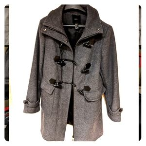 Forever 21 grey peacoat